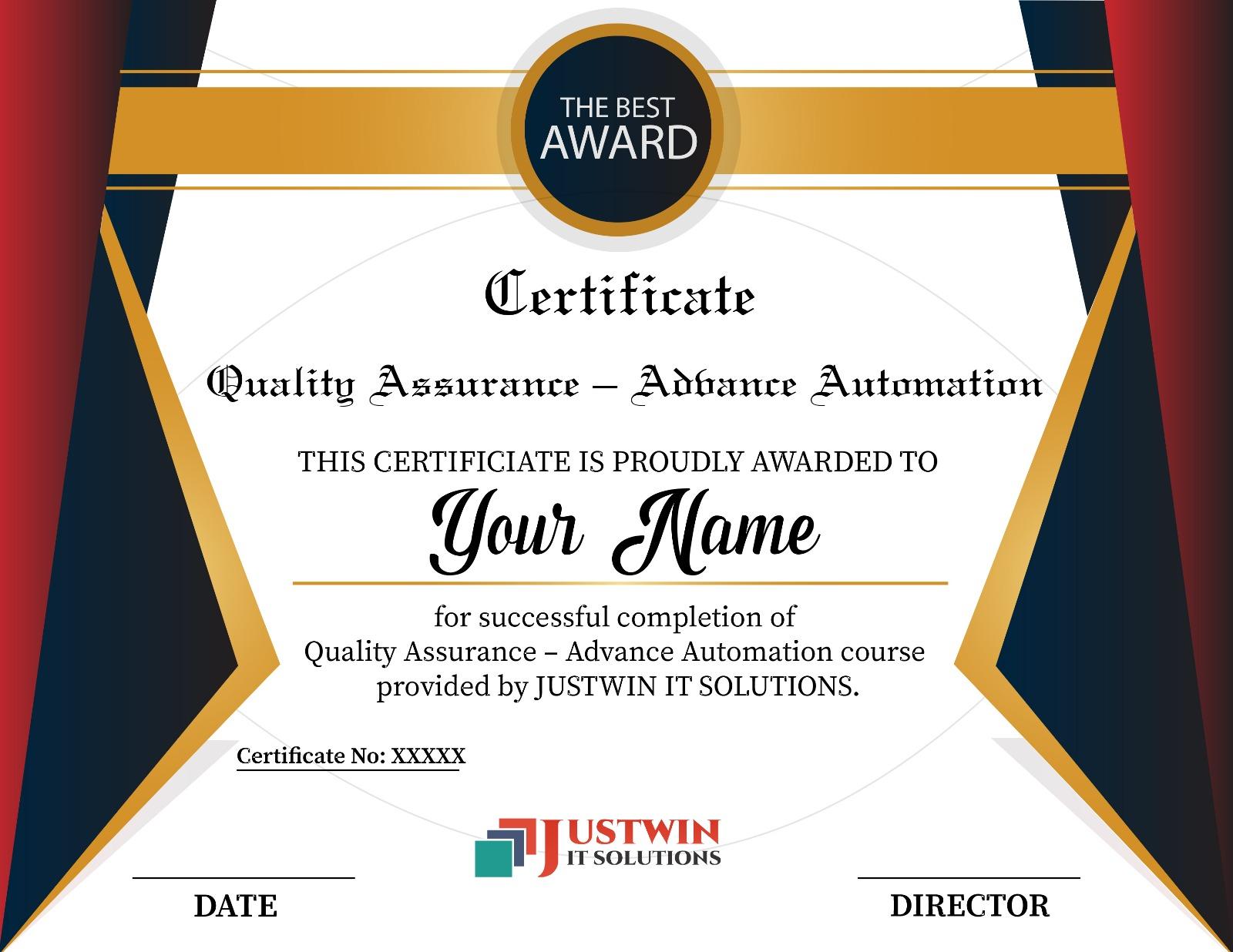 Advance Quality Assurance Training Qa Automation And Manual Testing