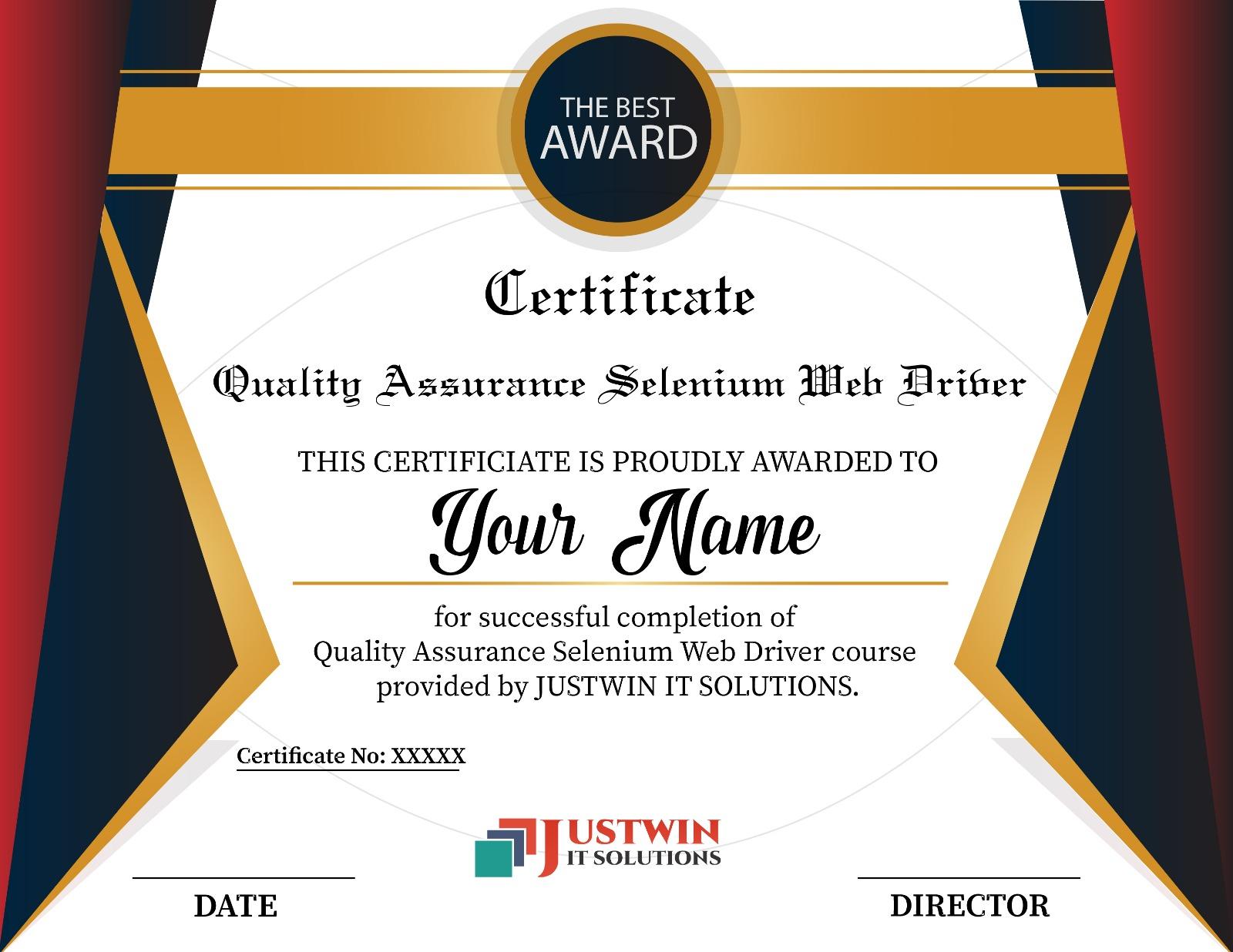 Top Selenium Web Driver Training 2 Months Selenium Certification